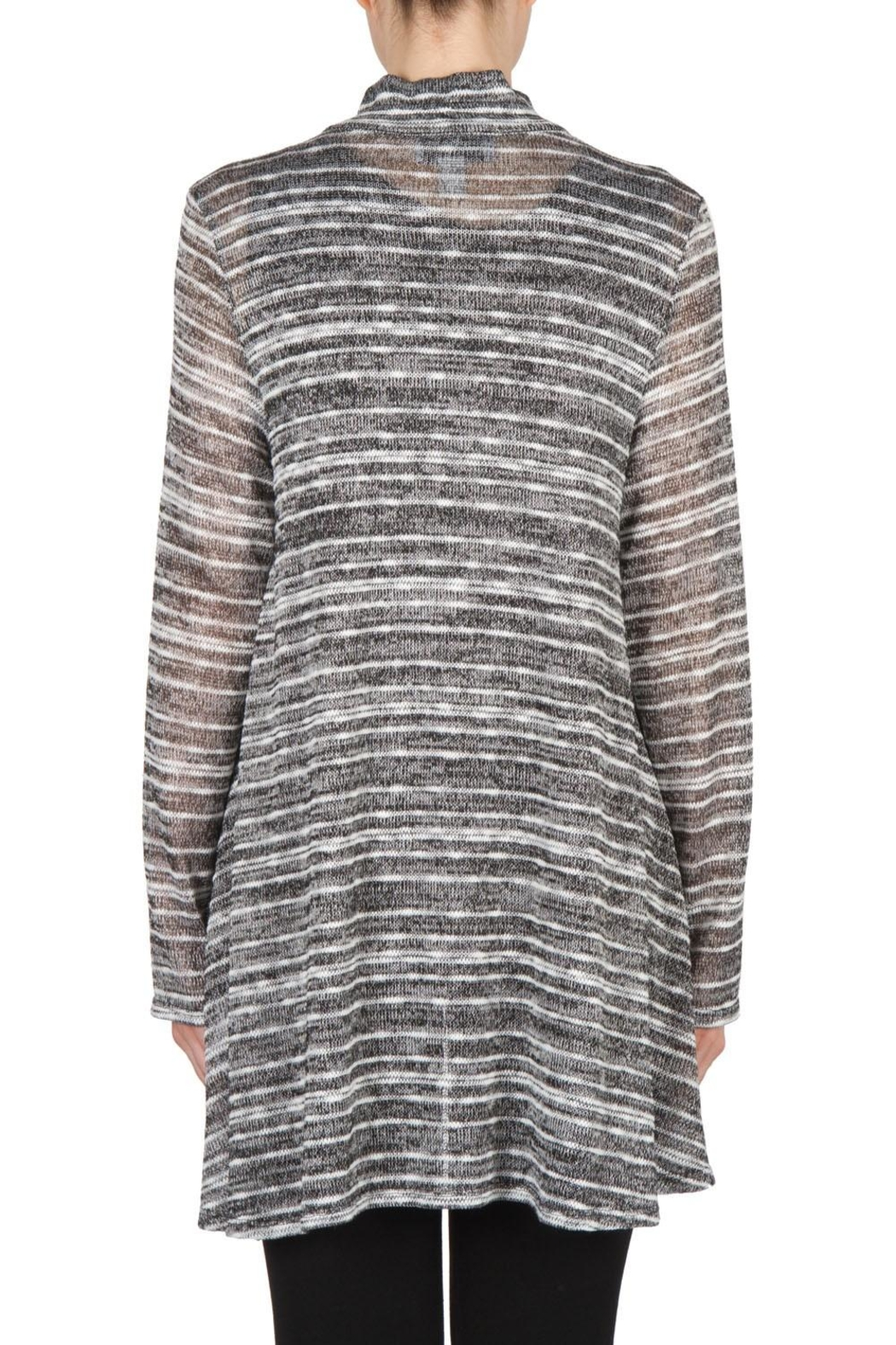 Joseph Ribkoff Zip Front Tunic Top - Side Cropped Image