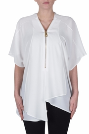 Joseph Ribkoff Zipper Drape Top - Product Mini Image