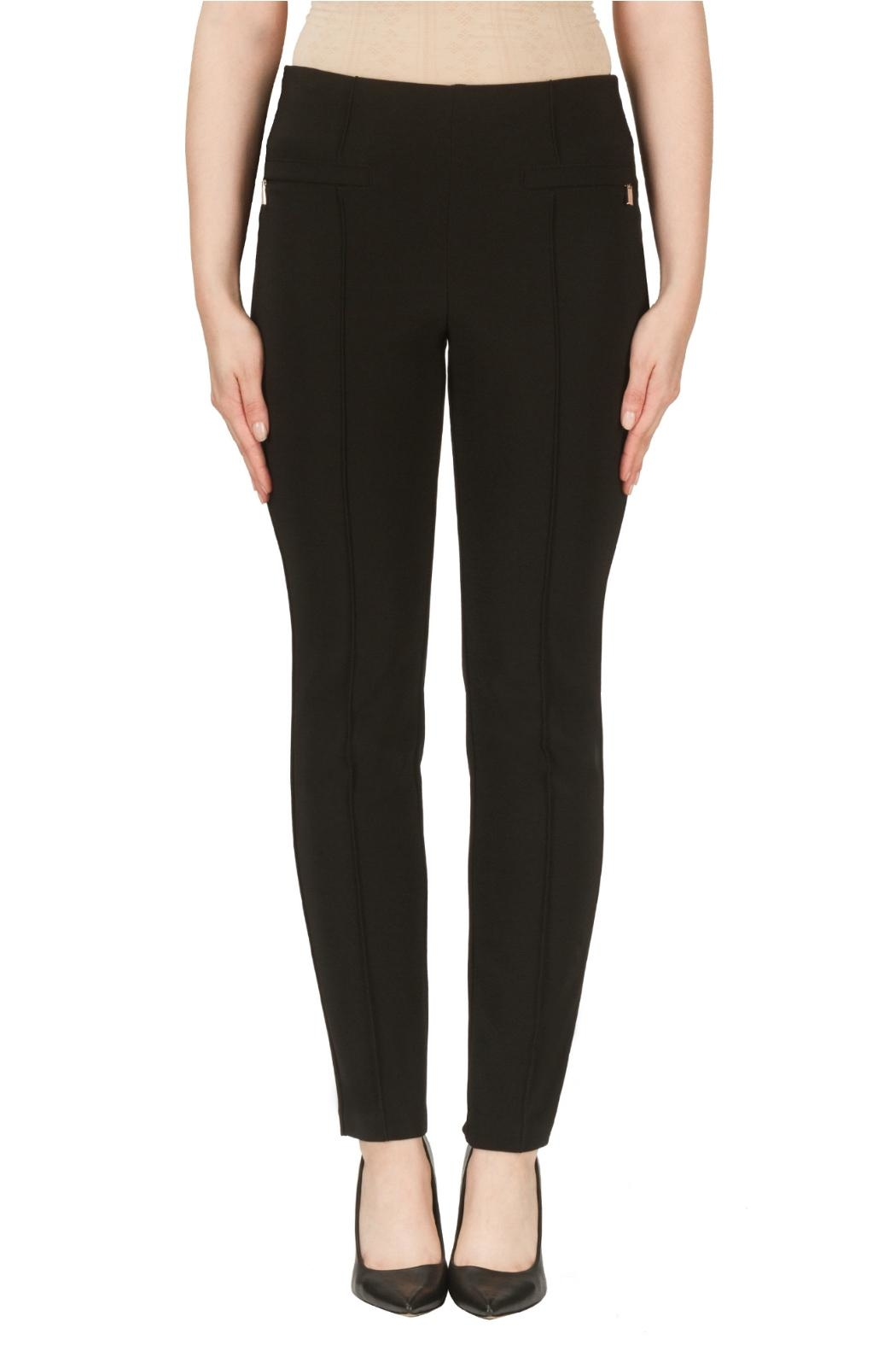 Joseph Ribkoff Zipper Pleated Pant - Front Cropped Image