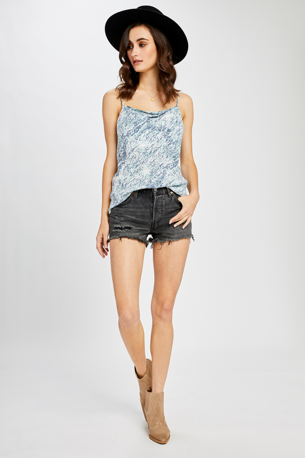 Gentle Fawn Josephine Print Tank - Back Cropped Image