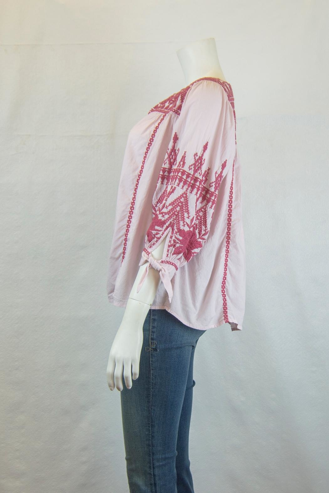 3J Workshop by Johnny Was Josiane Sleeve-Tie Blouse - Front Full Image