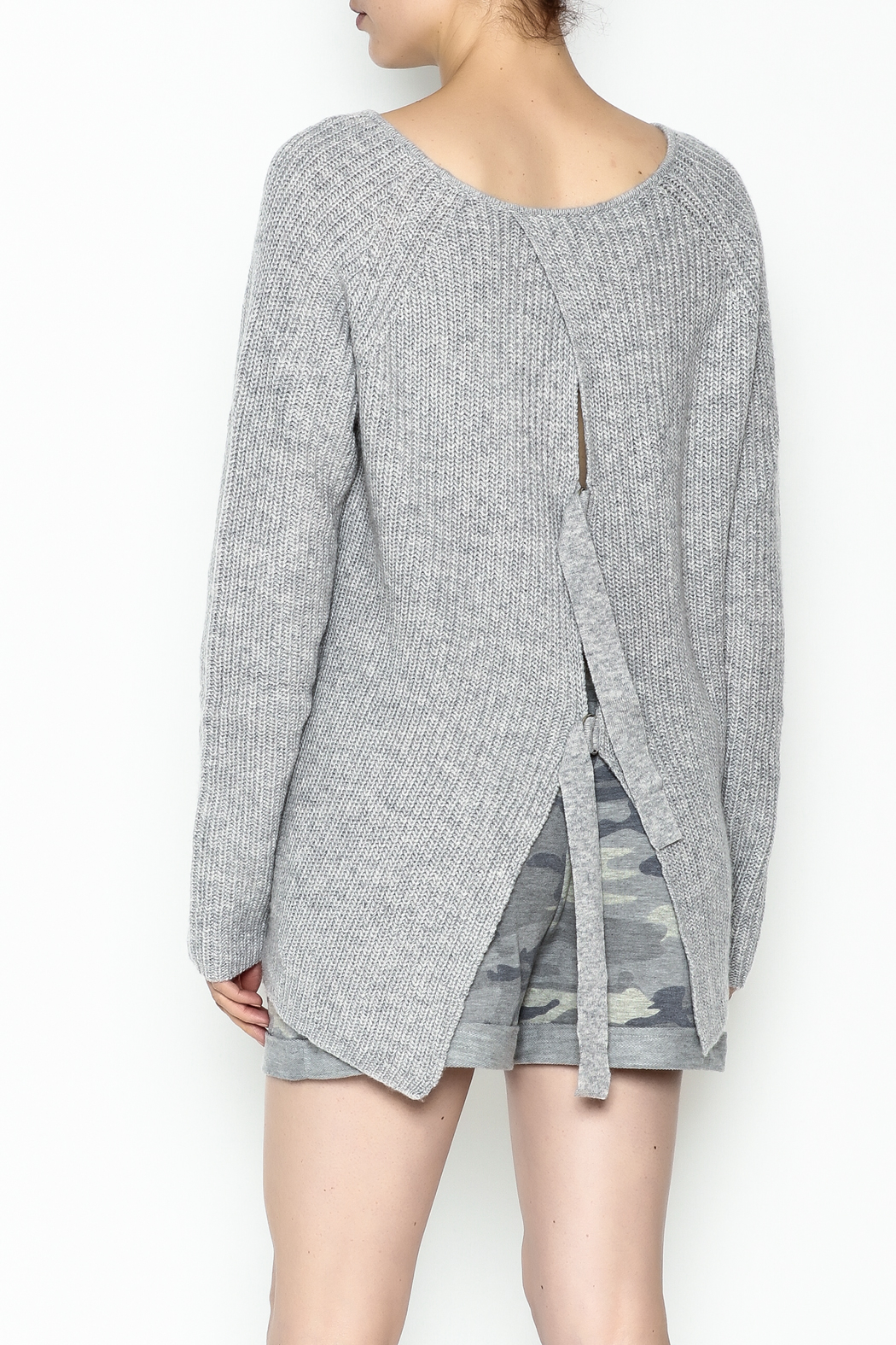 Josie Back Buckles Sweater - Back Cropped Image