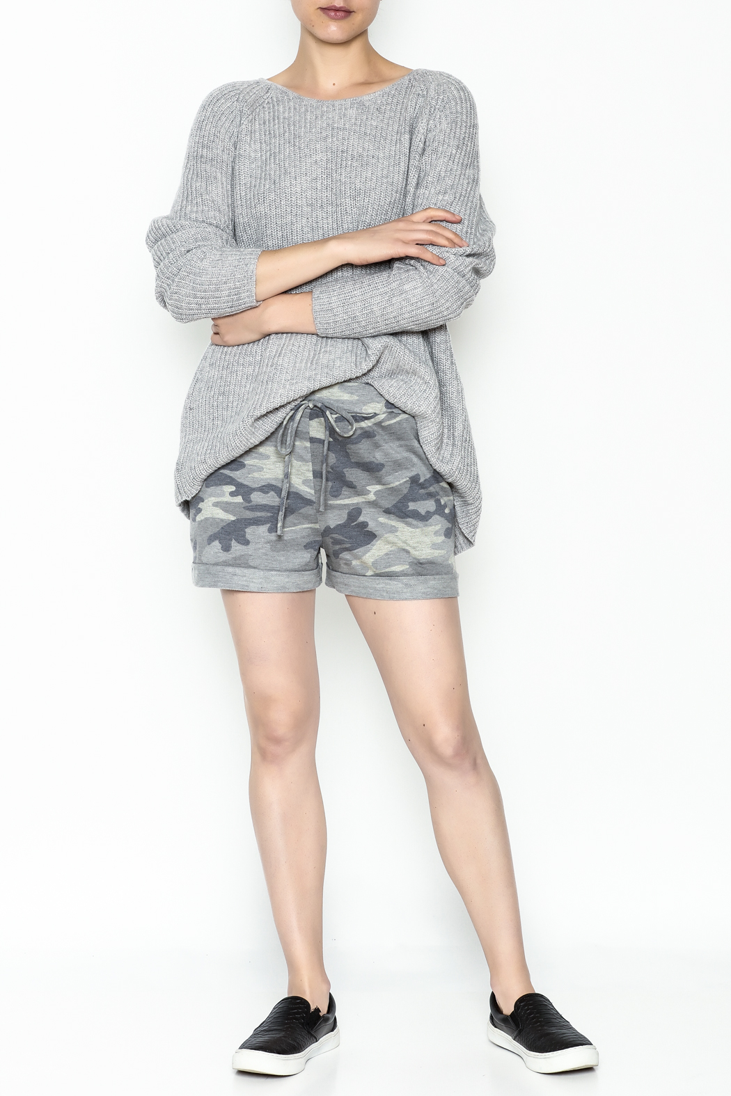 Josie Back Buckles Sweater - Side Cropped Image