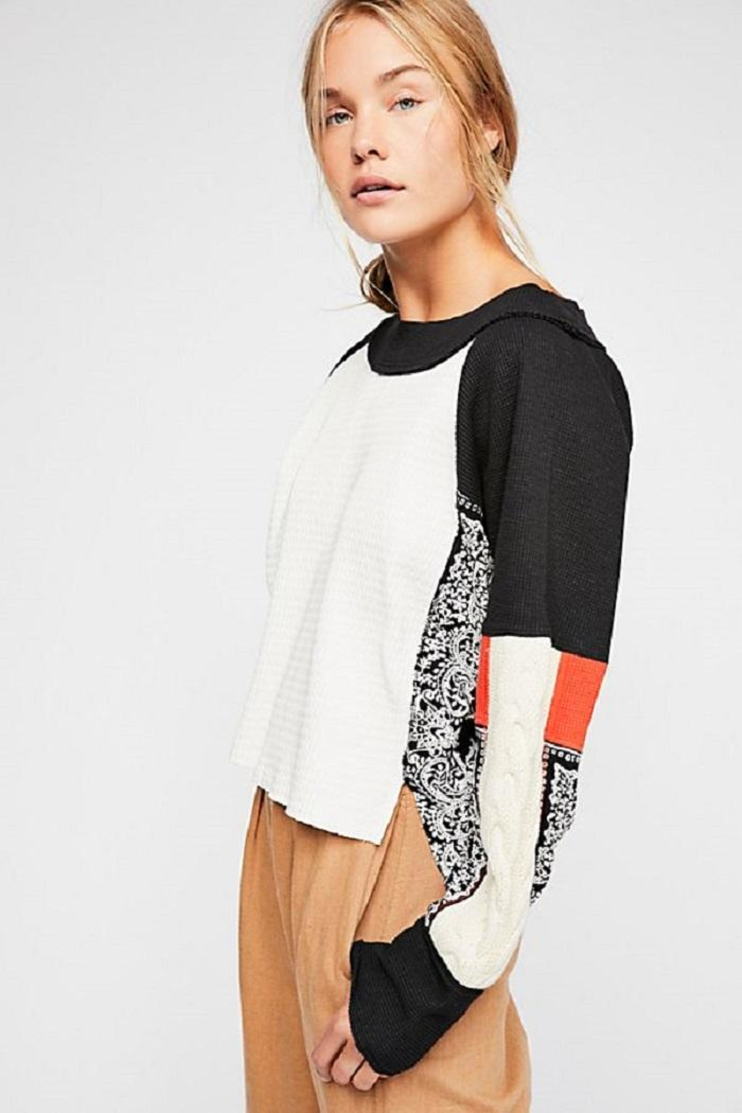 Free People Josie Patterned Swit - Front Cropped Image