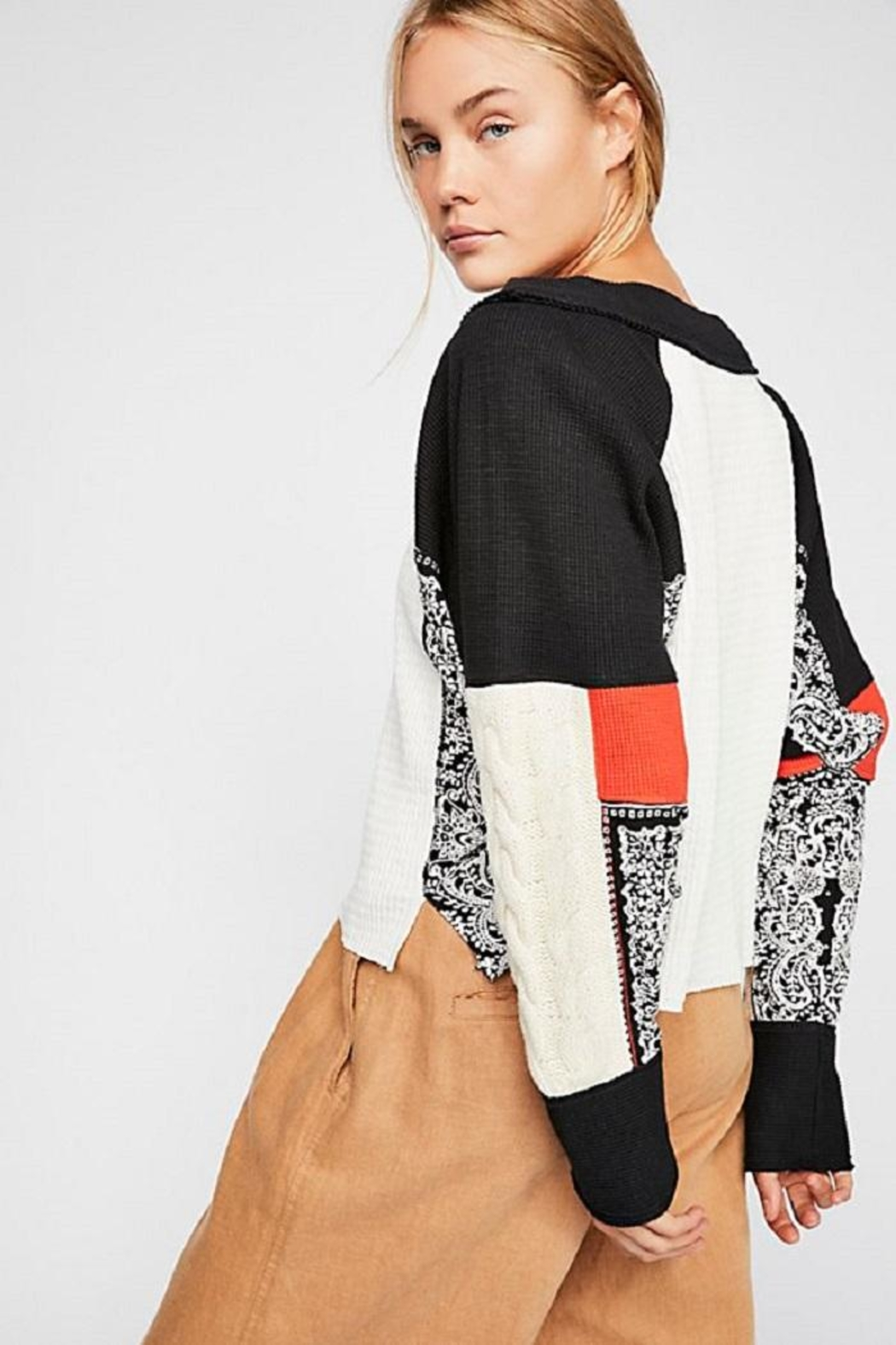 Free People Josie Patterned Swit - Front Full Image