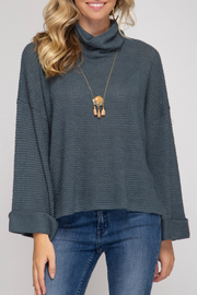 She + Sky Josie Sweater - Front cropped
