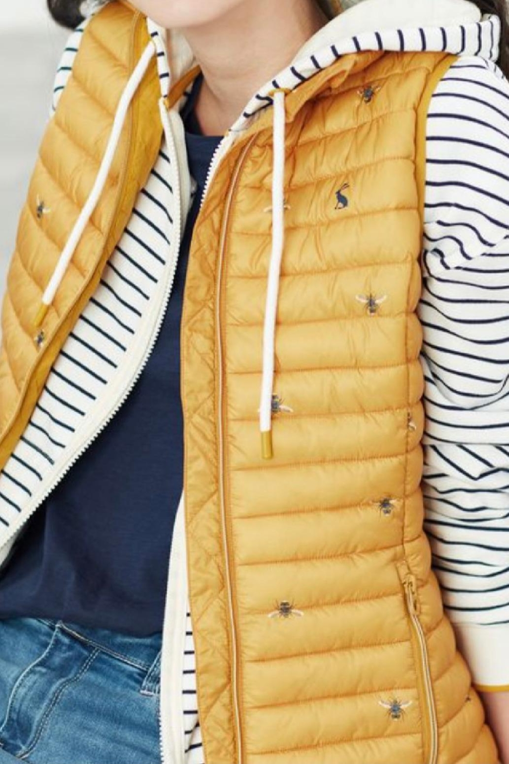 Joules Bee Slim Vest - Side Cropped Image