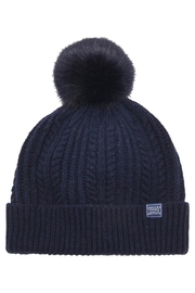 Joules Bobble Knitted Hat - Front cropped