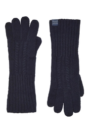 Joules Cableknit Long Gloves - Front full body
