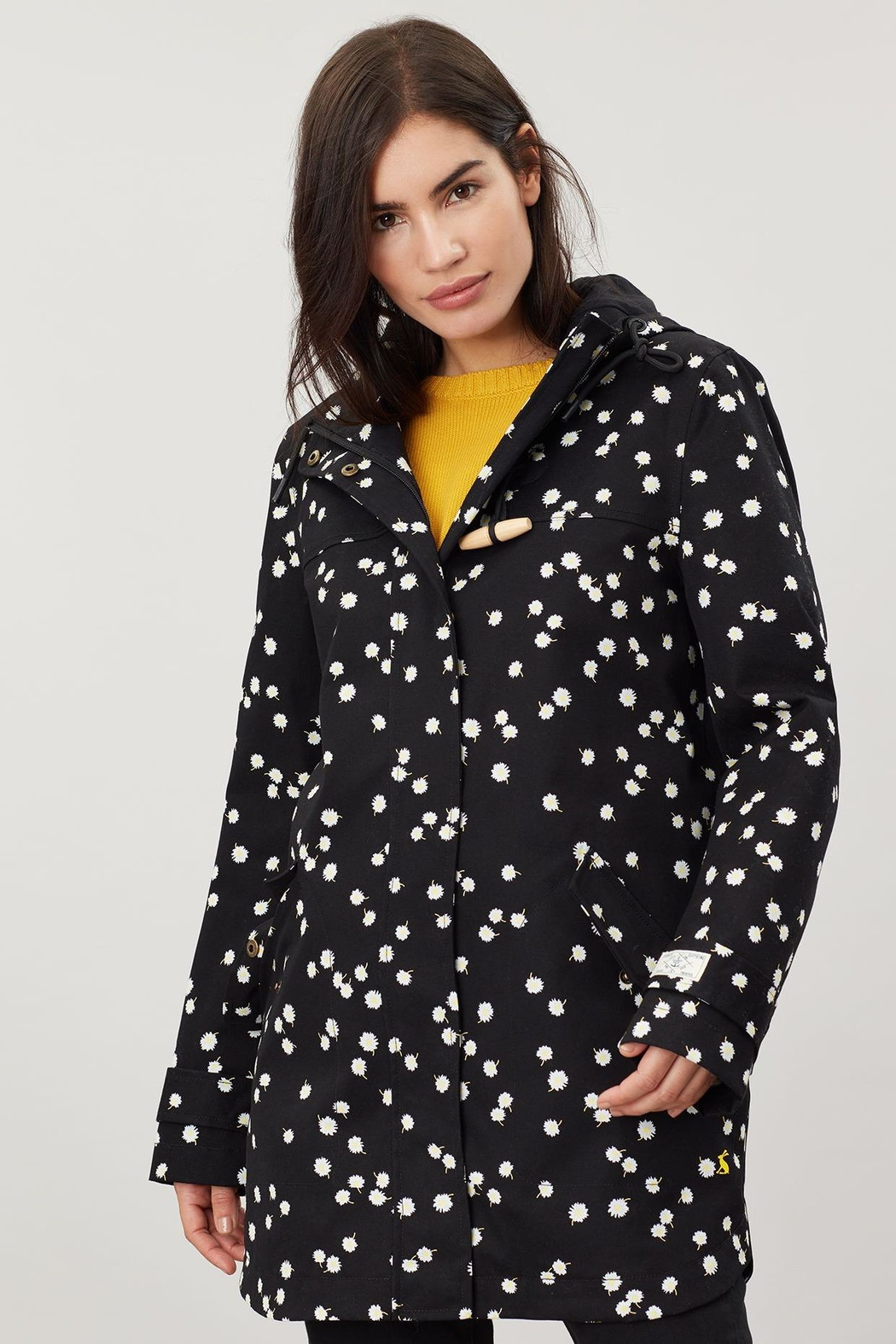 Joules Daisy Print Raincoat - Side Cropped Image