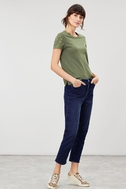 Joules Embroidered Sleeve Tee - Front full body