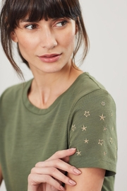 Joules Embroidered Sleeve Tee - Front cropped