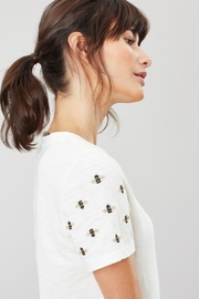 Joules Embroidered Sleeve Tee - Product Mini Image