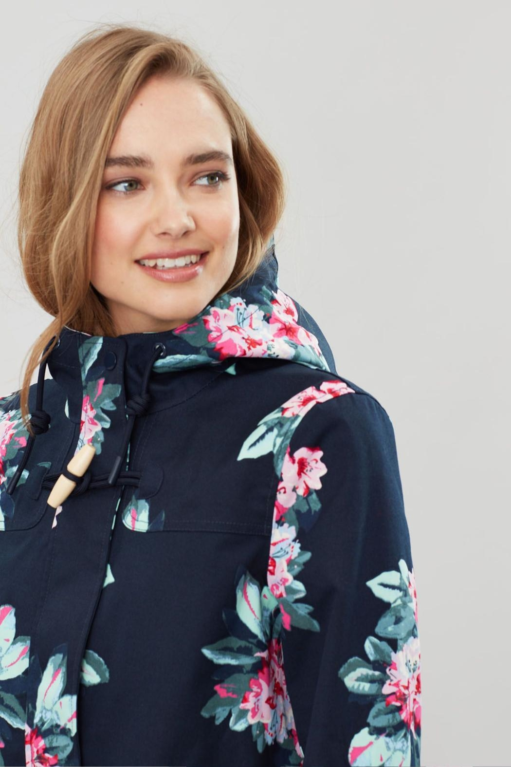 Joules Floral Print Jacket - Back Cropped Image