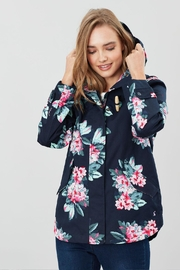Joules Floral Print Jacket - Front full body