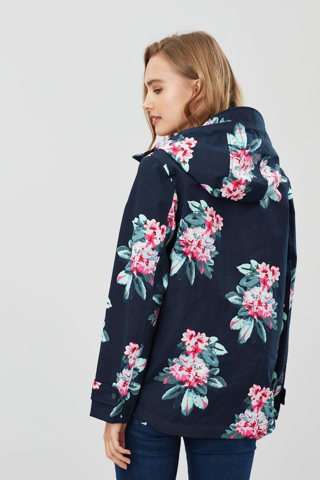 Joules Floral Print Jacket - Side Cropped Image