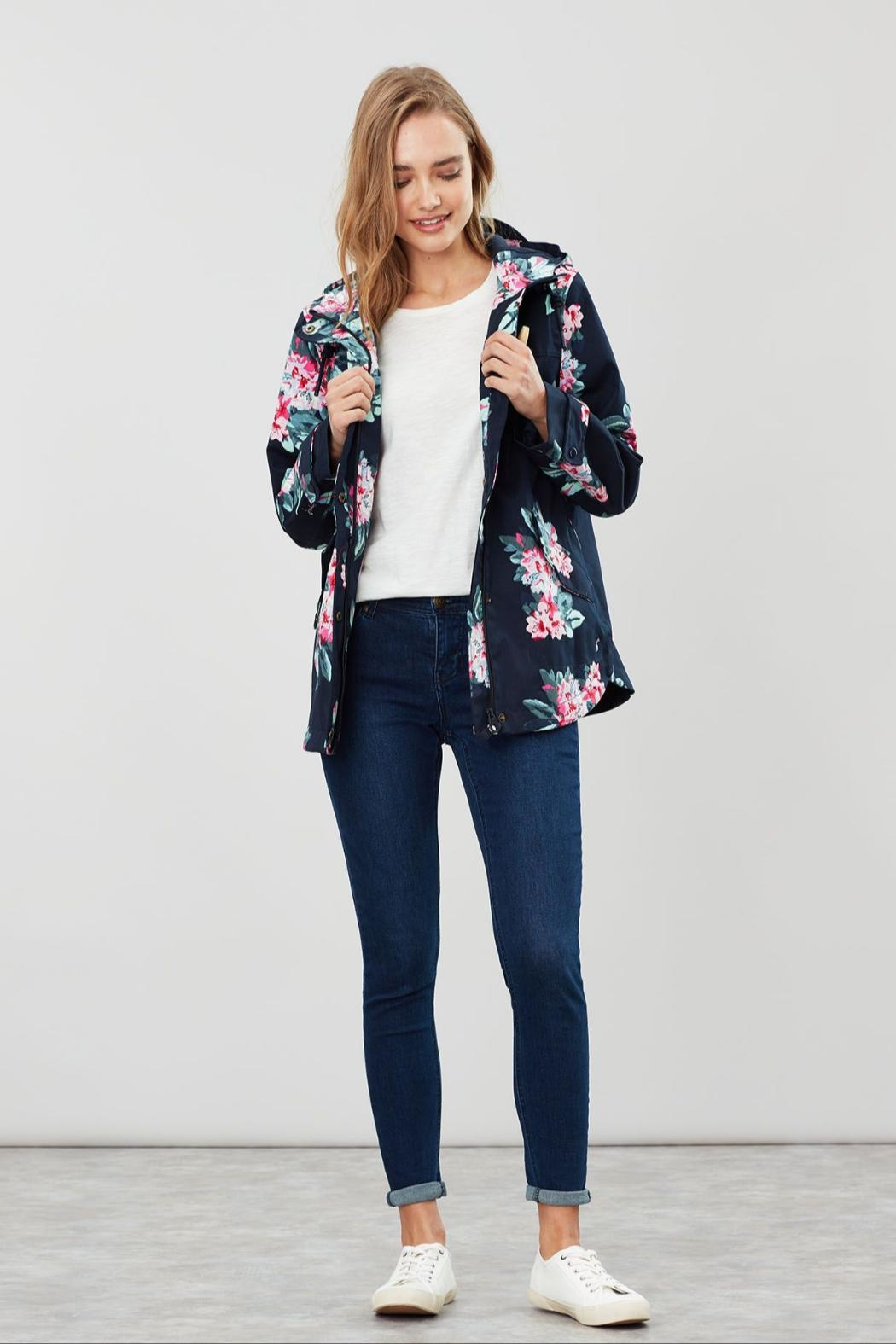 Joules Floral Print Jacket - Main Image
