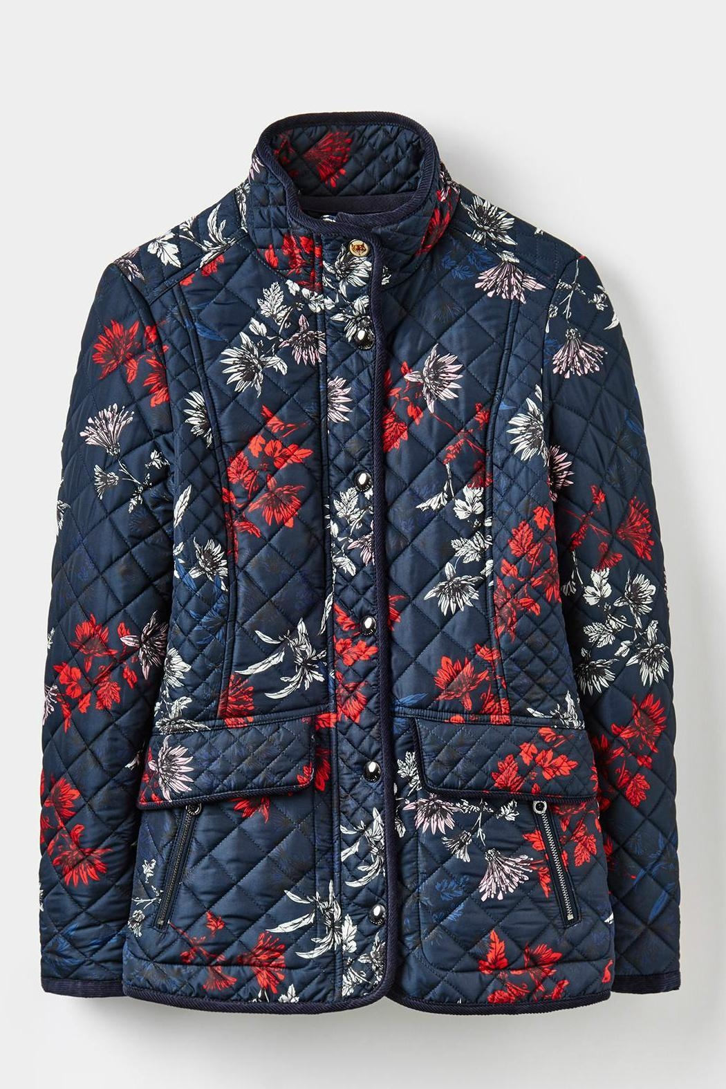 Joules Floral Quilted Jacket - Main Image
