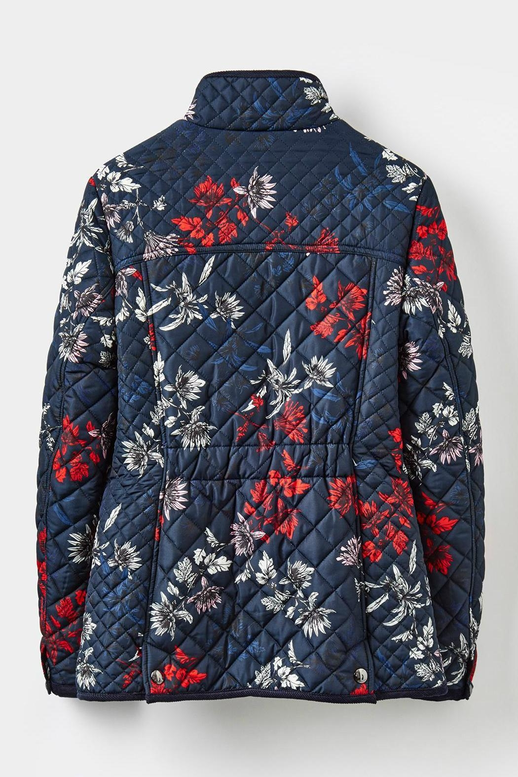 Joules Floral Quilted Jacket - Back Cropped Image