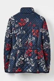 Joules Floral Quilted Jacket - Back cropped