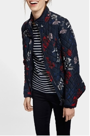 Joules Floral Quilted Jacket - Front cropped