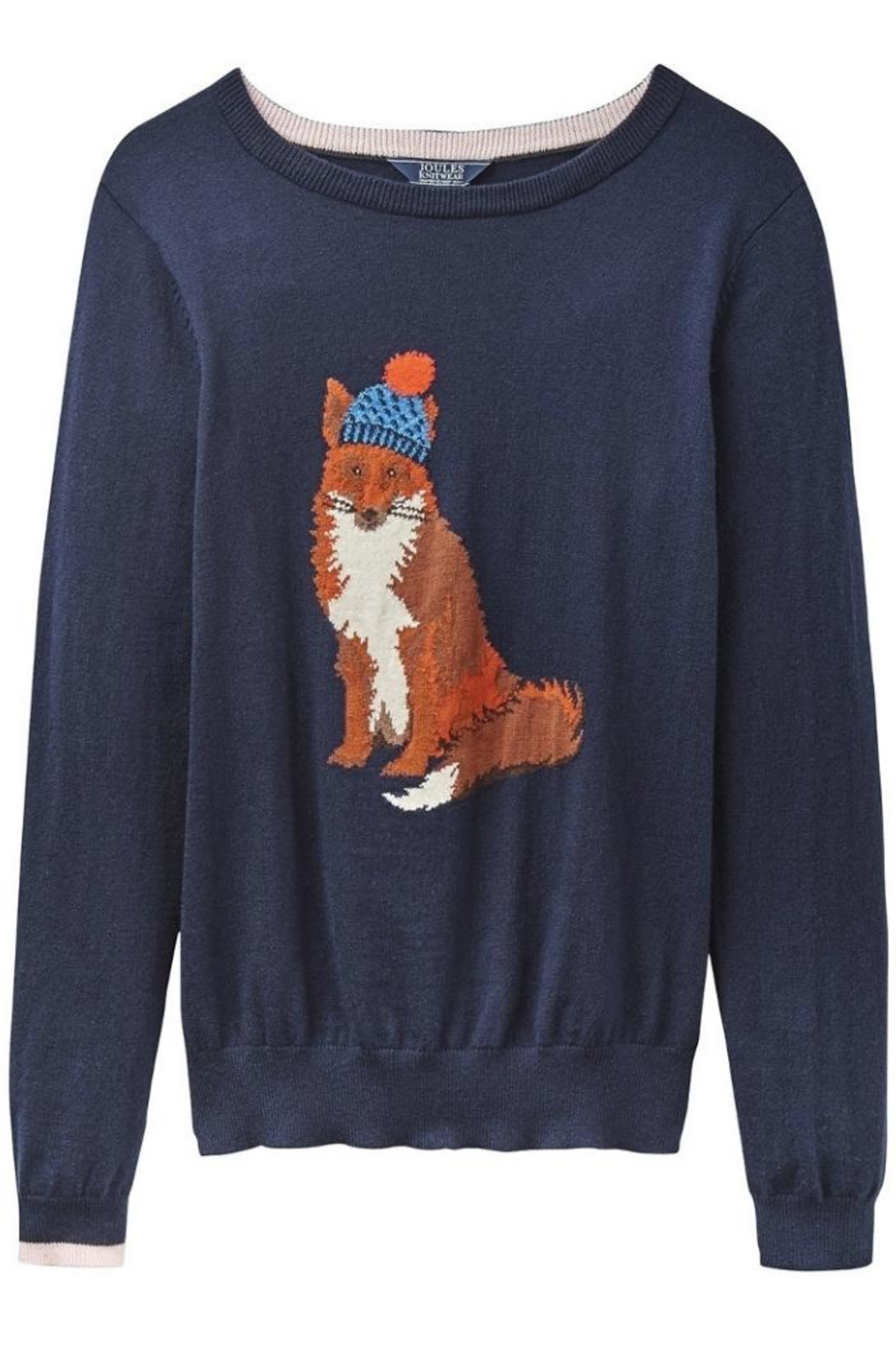 Joules Fox Intarsia Sweater - Front Full Image