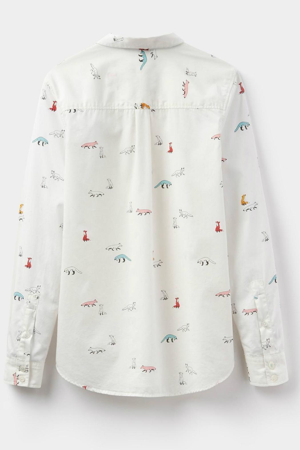 Joules Foxtrot Cream Shirt - Back Cropped Image