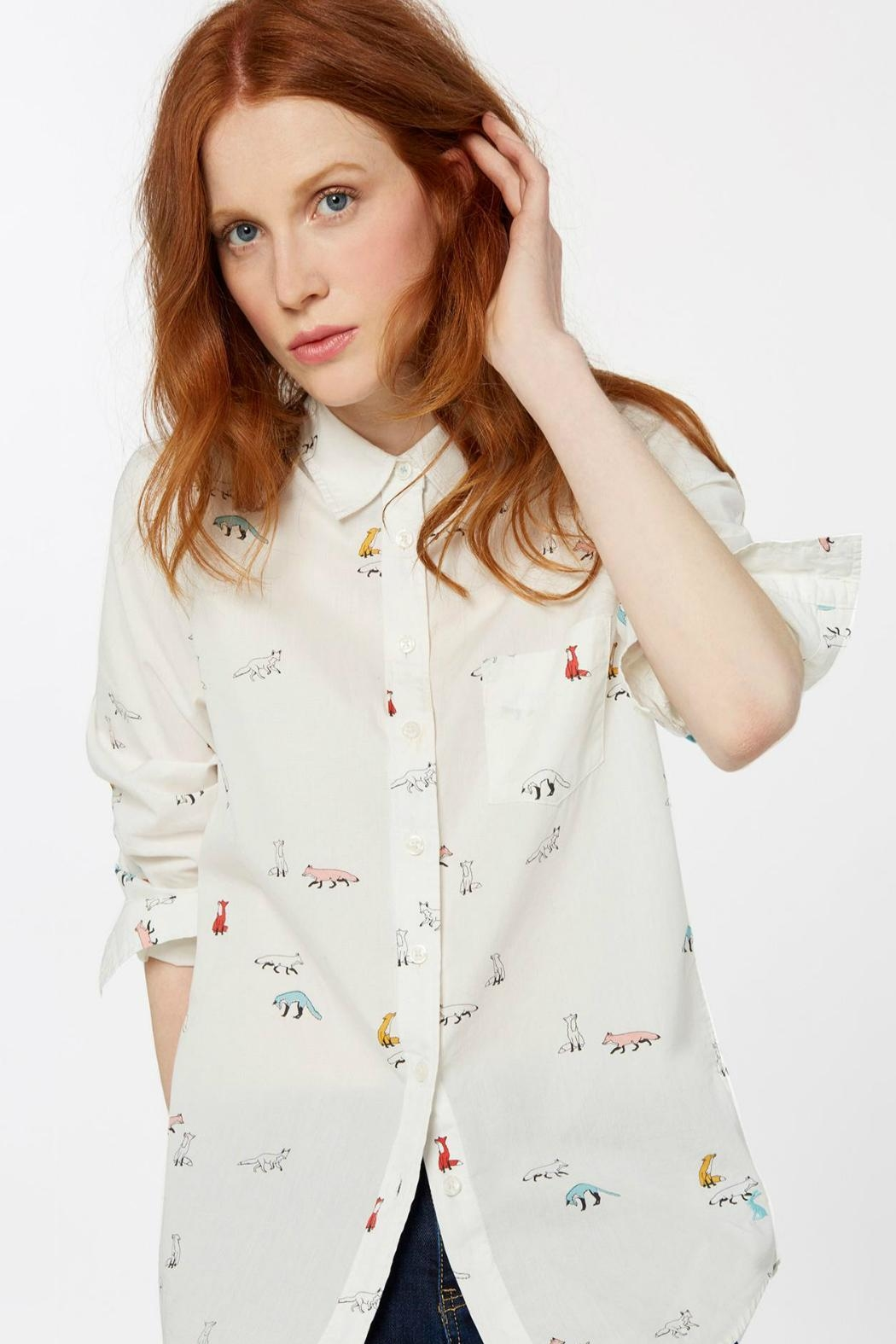 Joules Foxtrot Cream Shirt - Front Full Image