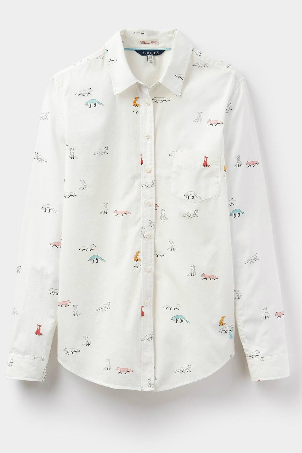 Joules Foxtrot Cream Shirt - Side Cropped Image