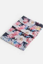 Joules Lightweight Printed Scarf - Side cropped