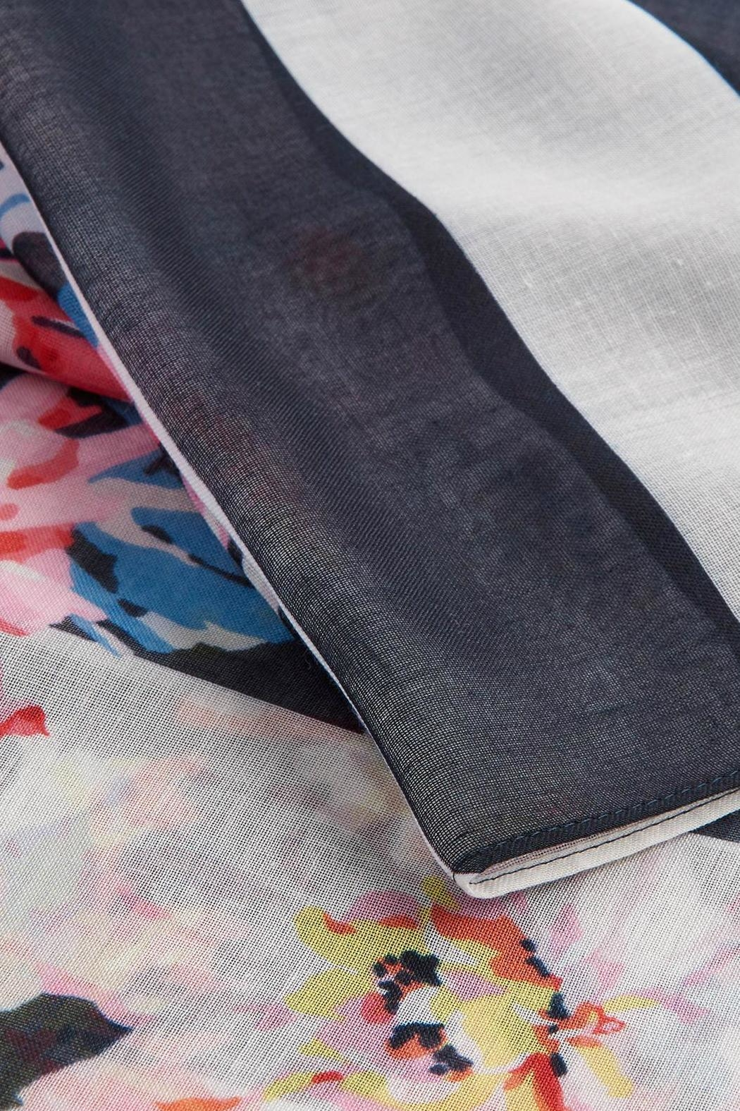 Joules Lightweight Printed Scarf - Back Cropped Image