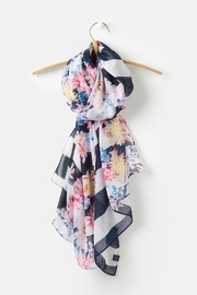 Joules Lightweight Printed Scarf - Front full body
