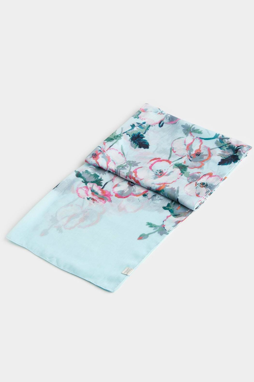 Joules Lightweight Printed Scarf - Side Cropped Image