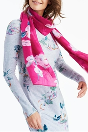 Joules Lightweight Printed Scarf - Front cropped