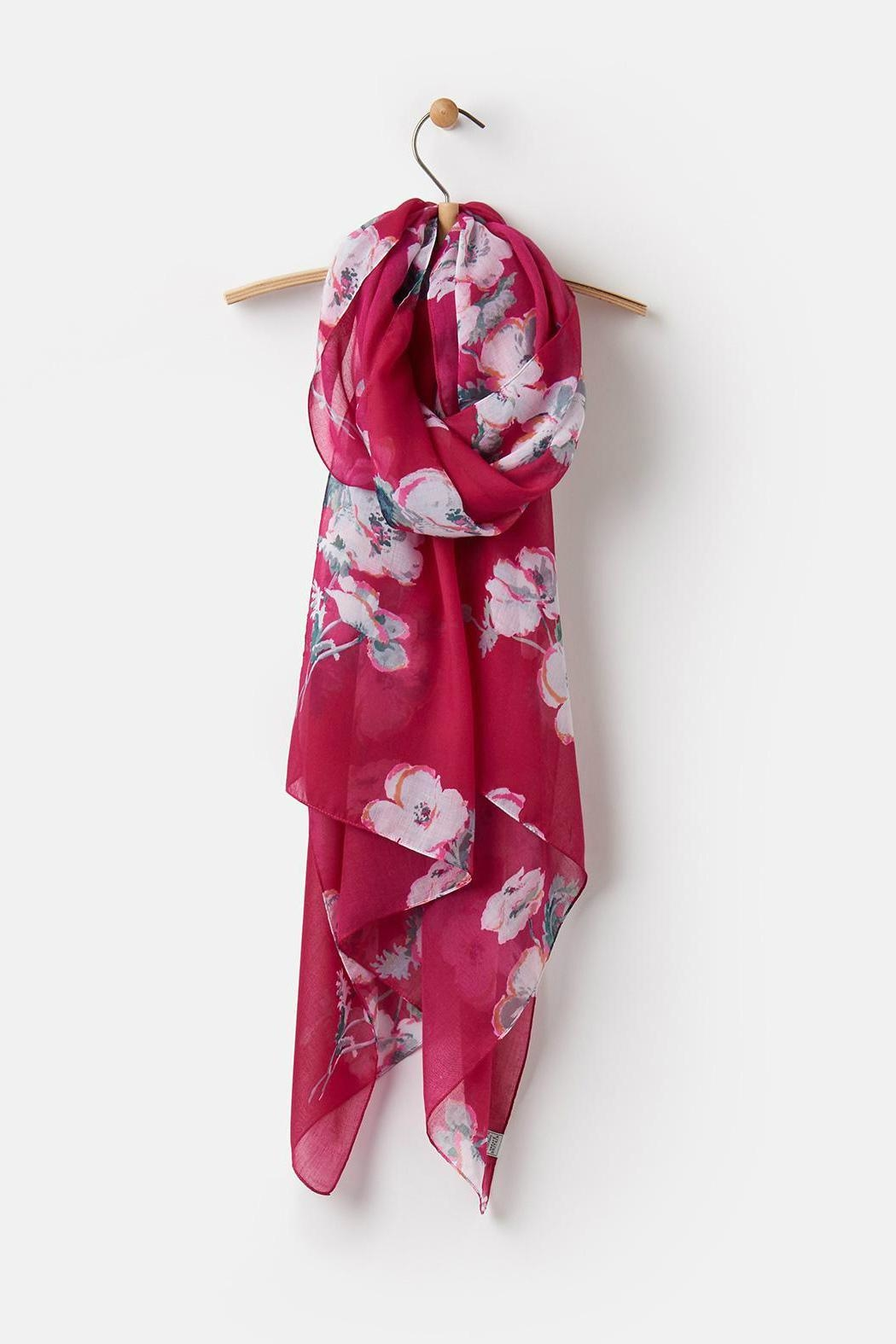 Joules Lightweight Printed Scarf - Front Full Image