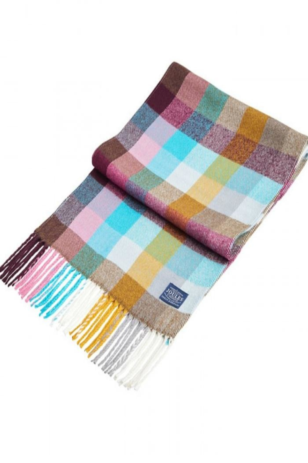 Joules Multi Gingham Scarf - Front Full Image