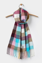 Joules Multi Gingham Scarf - Front cropped