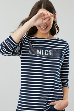 Joules Naughty/nice Jersey Top - Alternate List Image