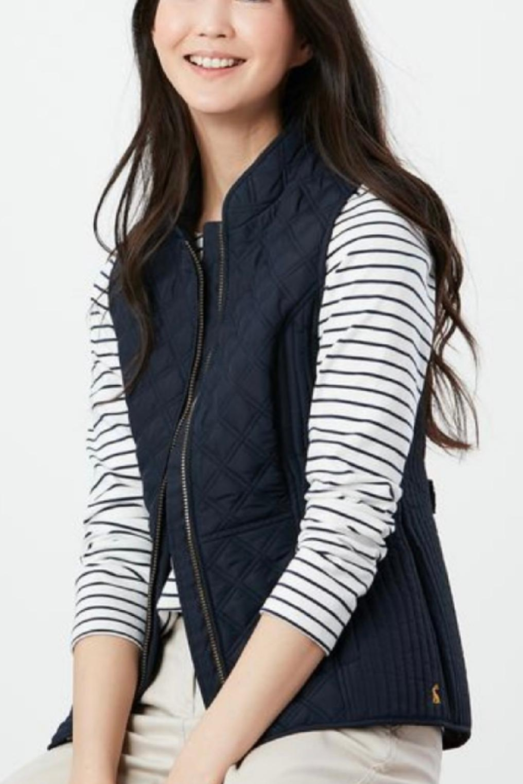 Joules Navy Fitted Vest - Main Image