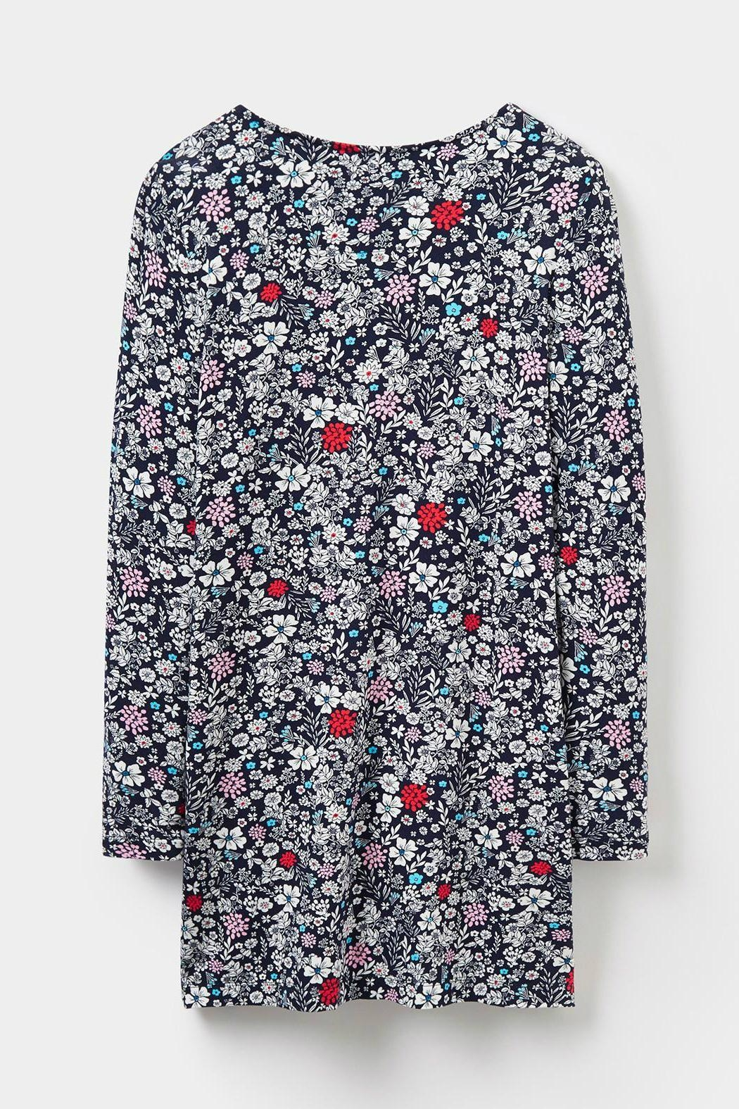 Joules Printed Jersey Tunic Top - Back Cropped Image