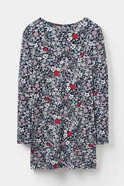 Joules Printed Jersey Tunic Top - Back cropped