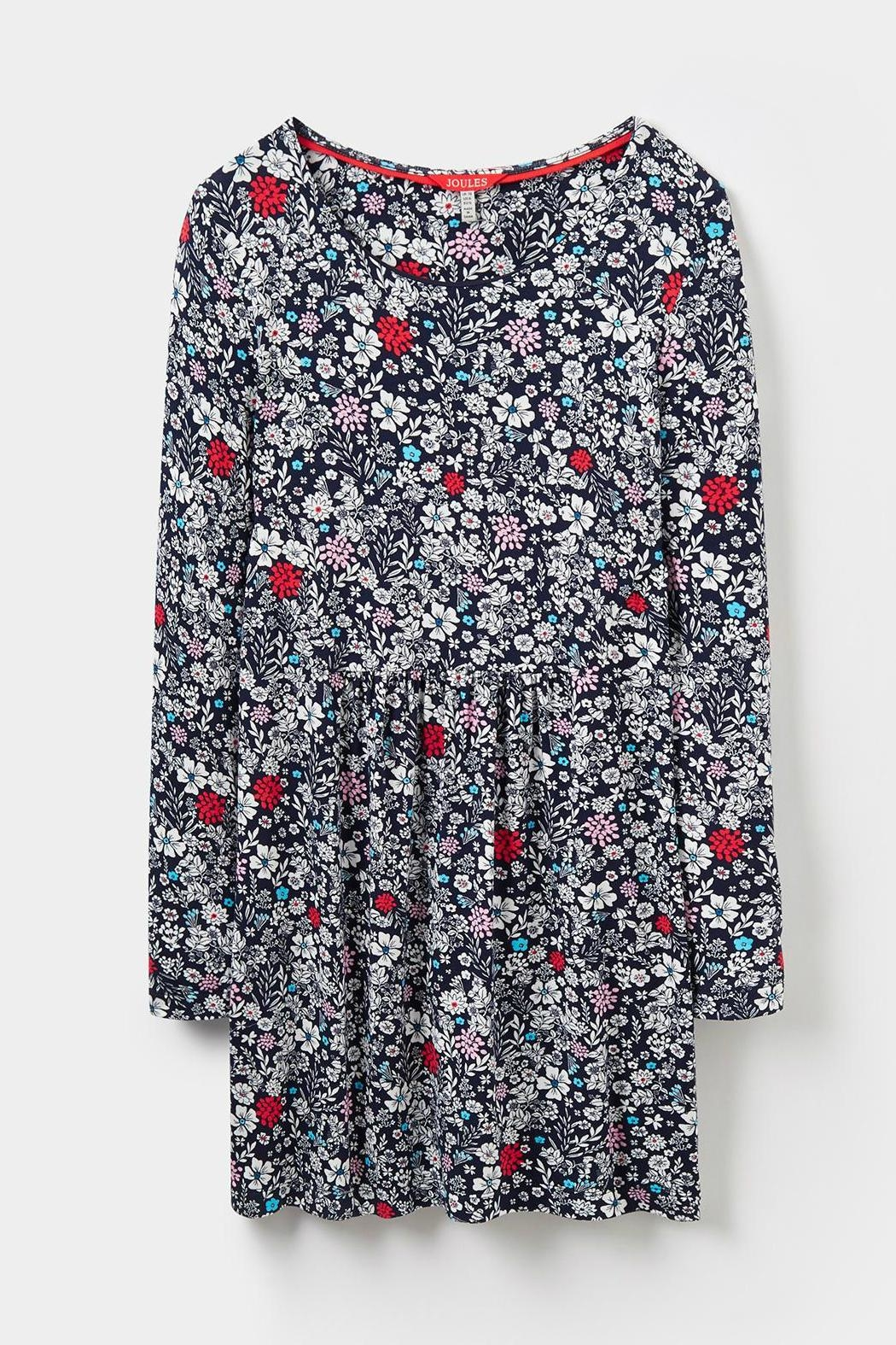 Joules Printed Jersey Tunic Top - Side Cropped Image