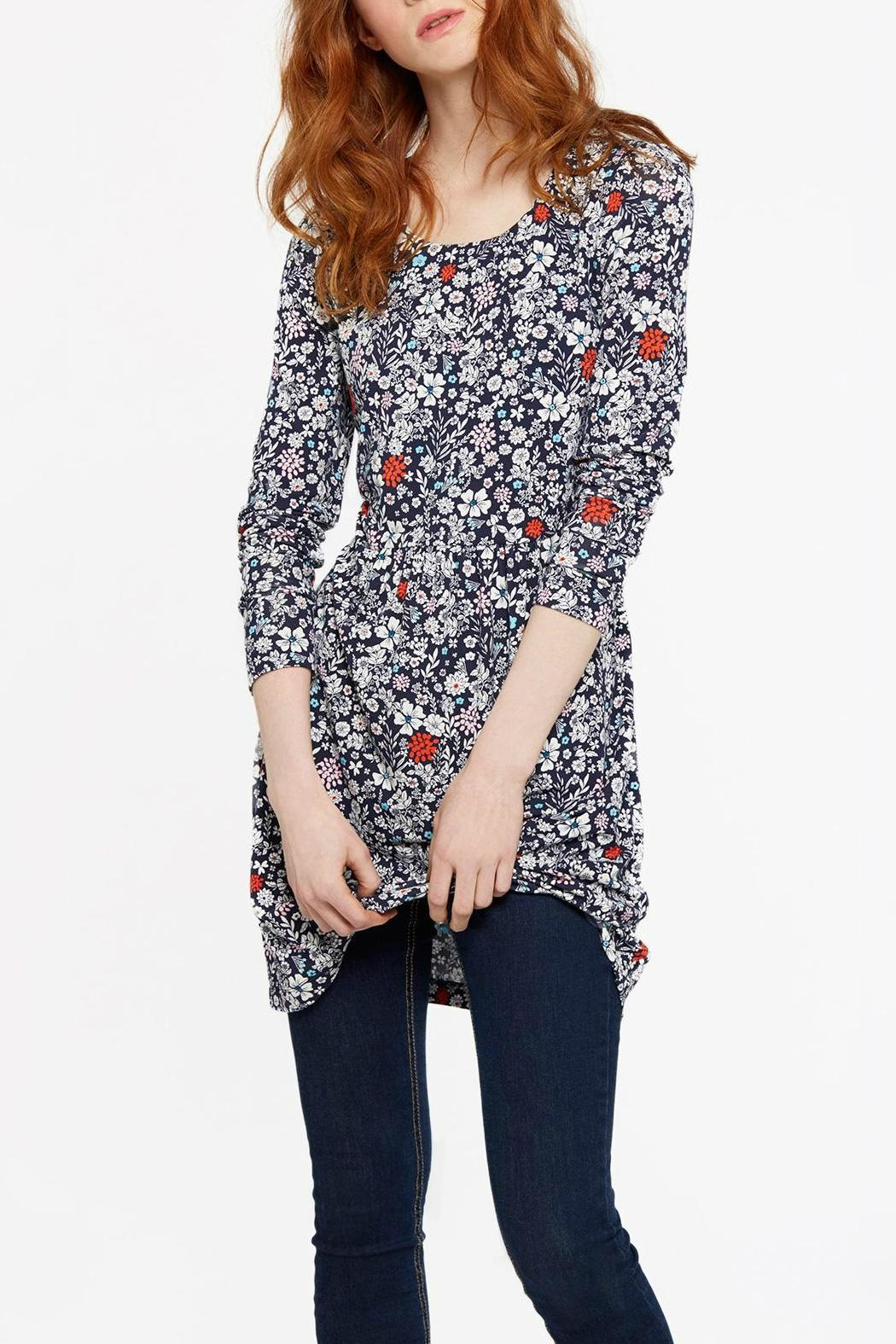 Joules Printed Jersey Tunic Top - Main Image