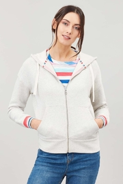 Joules Rainbow Stripe Hoodie - Front cropped