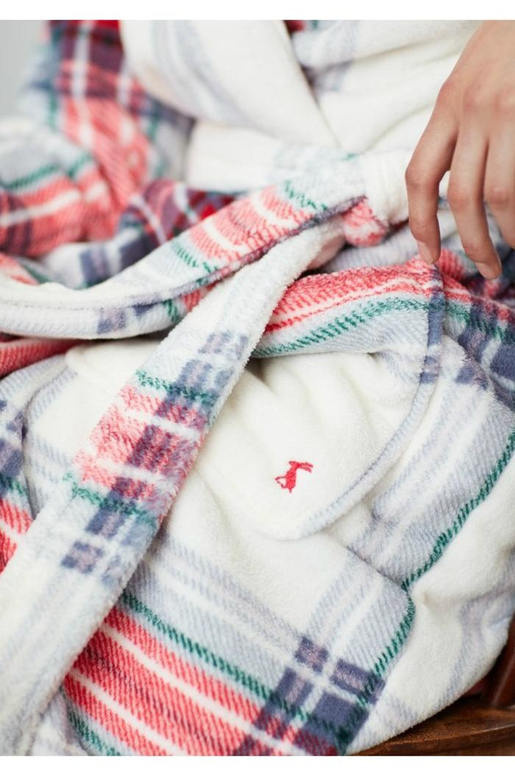 Joules Rita Fluffy Robe - Side Cropped Image