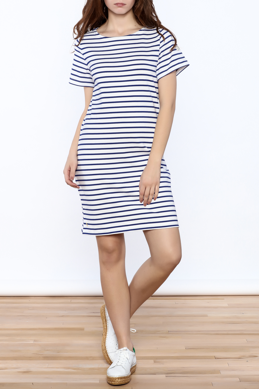 Joules Riviera Striped Dress - Front Full Image