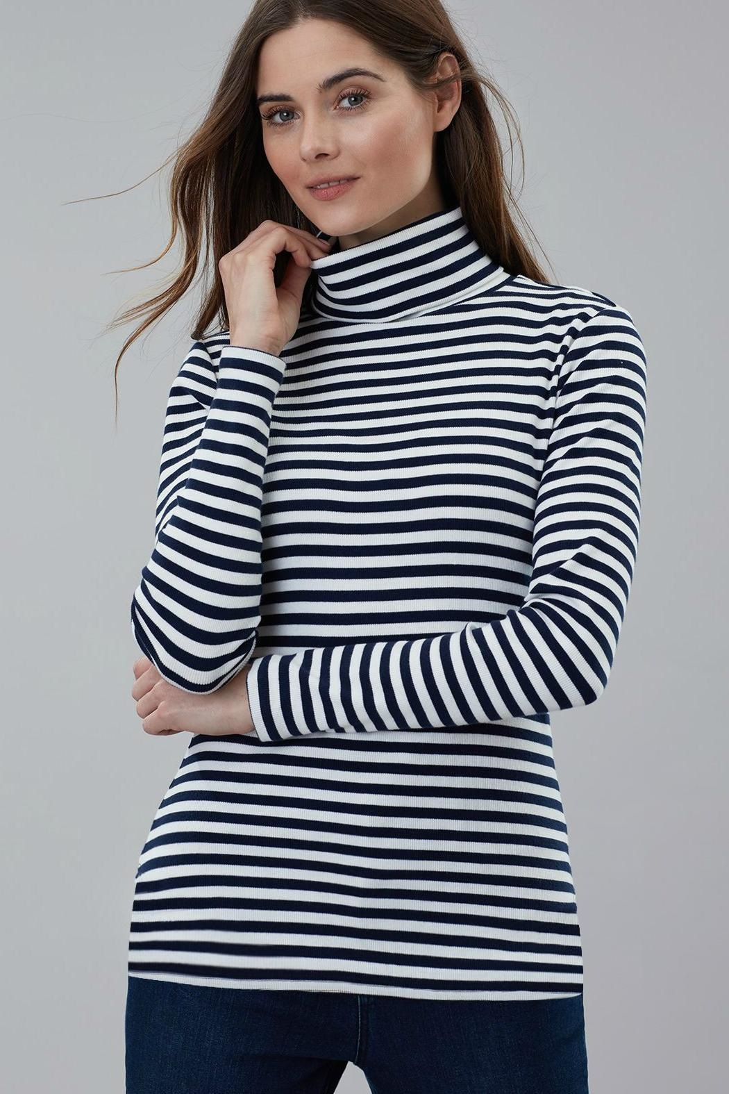 Joules Roll Neck Top - Side Cropped Image