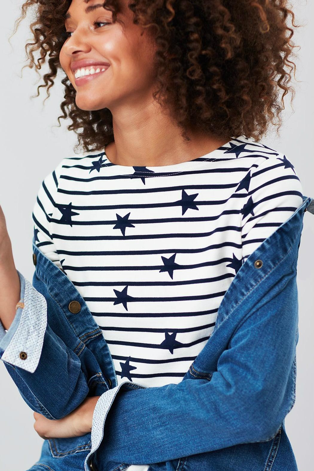Joules Stripe Star Top - Side Cropped Image