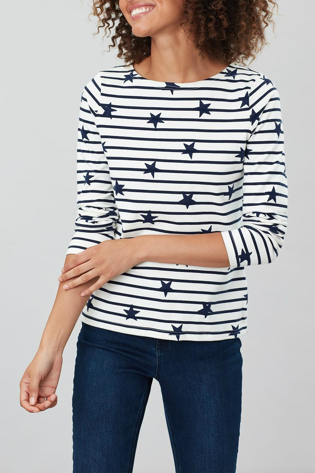 Joules Stripe Star Top - Front Full Image