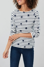 Joules Stripe Star Top - Front full body